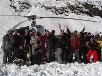All the snowboarders who were on the heli-board